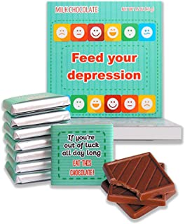 DA CHOCOLATE Feed your depression Unique gift set 5x5in box 2.82 Oz (Prime 2) (0303)