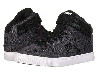 DC Kids Pure High-Top TX SE EV (Little Kid/Big Kid) (Black/Armor) Boys Shoes