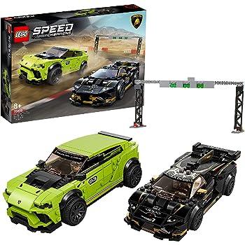 LEGO SpeedChampions LamborghiniUrusST-X&LamborghiniHuracánSuperTrofeoEVO, Set di Costruzioni con Auto da Corsa, 76899