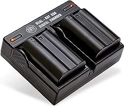 BM Premium 2 Pack of EN-EL15B Batteries and Dual Battery Charger for Nikon Z6, Z7, D850, D7500, 1 V1, D500, D600, D610, D750, D800, D800E, D810, D810A, D7000, D7100, D7200 Digital Cameras