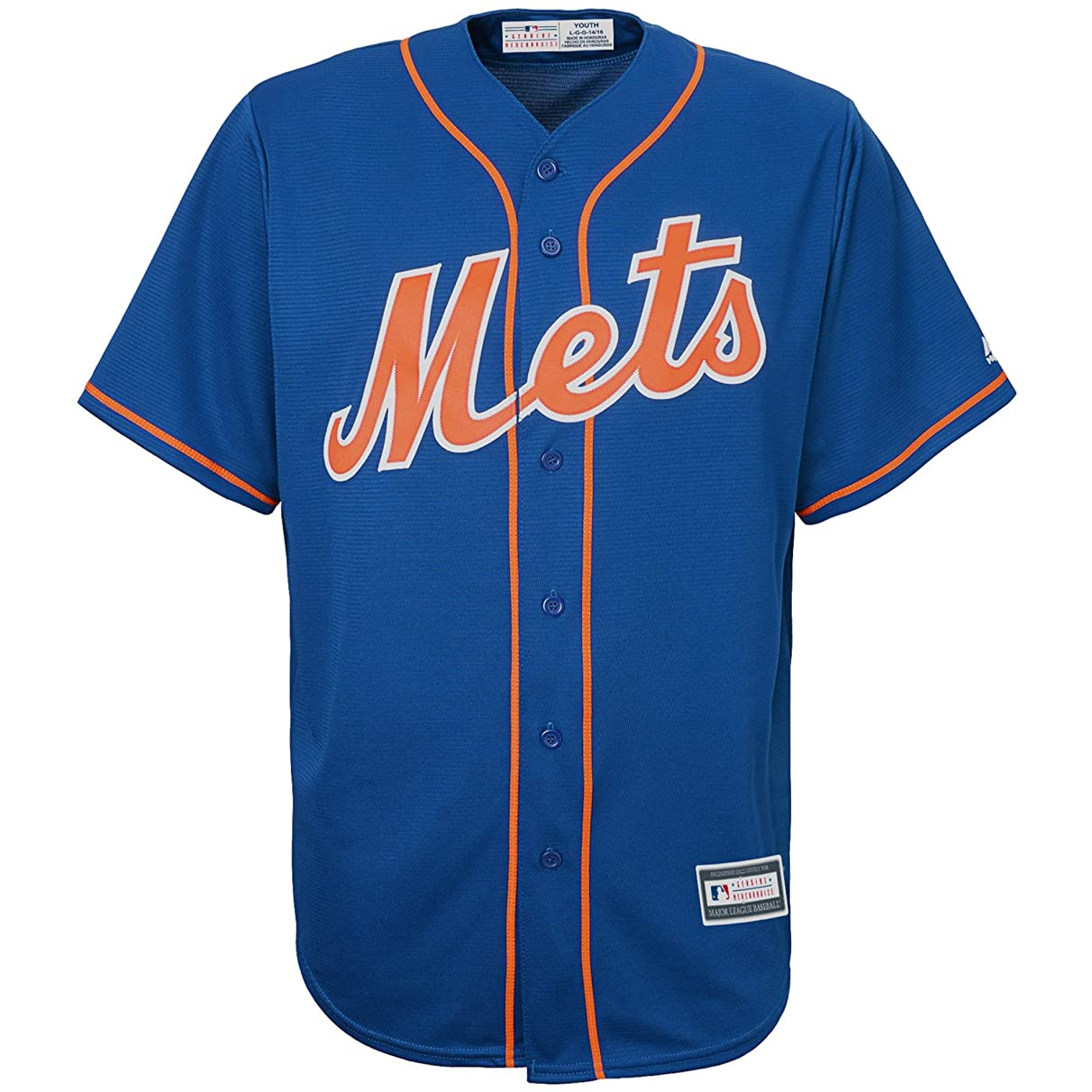 New York Mets Blank Blue Youth Cool Base Alternate Replica Jersey