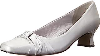 حذاء ويف الرسمي للنساء من إيزي ستريت, (Silver Satin), 6.5 WW US