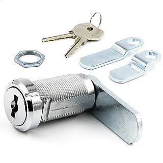 BURG hefboomslotset 30 mm gelijksluitend (universele cilinder, brievenbusslot, meubelslot, kastslot)