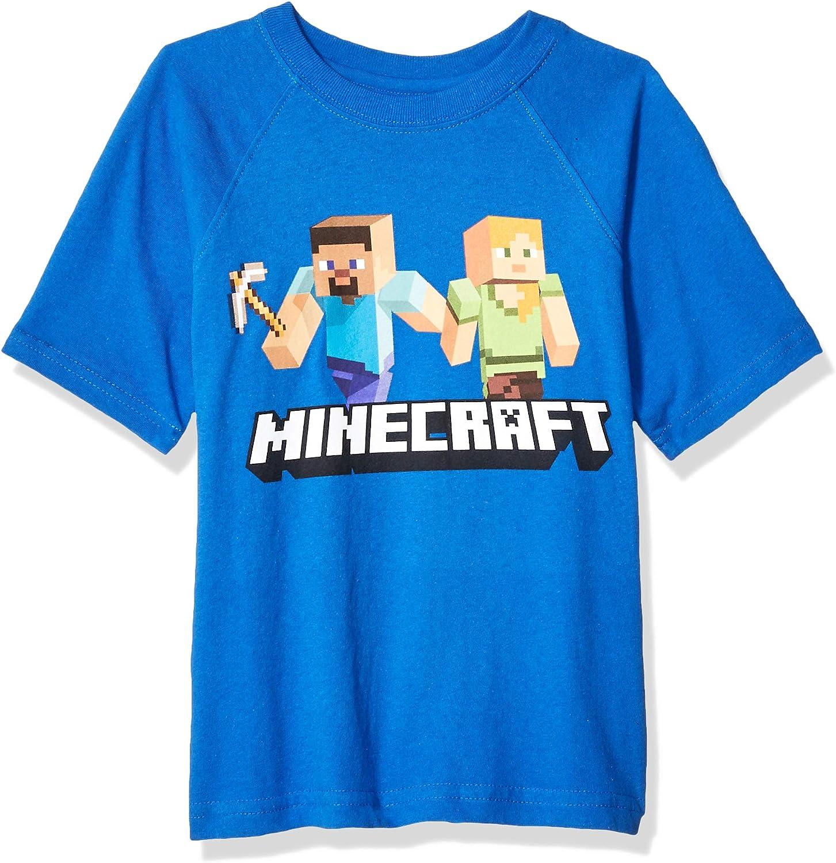 Minecraft Boys' Steve and Alex on The Go Graphics Short Sleeve T-Shirt