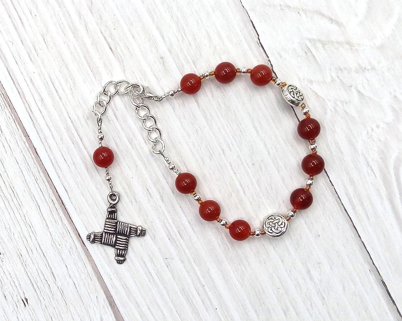 Brigid Prayer Ranking TOP15 Bead Bracelet Sacramento Mall in Carnelian: Celtic Irish Goddess o