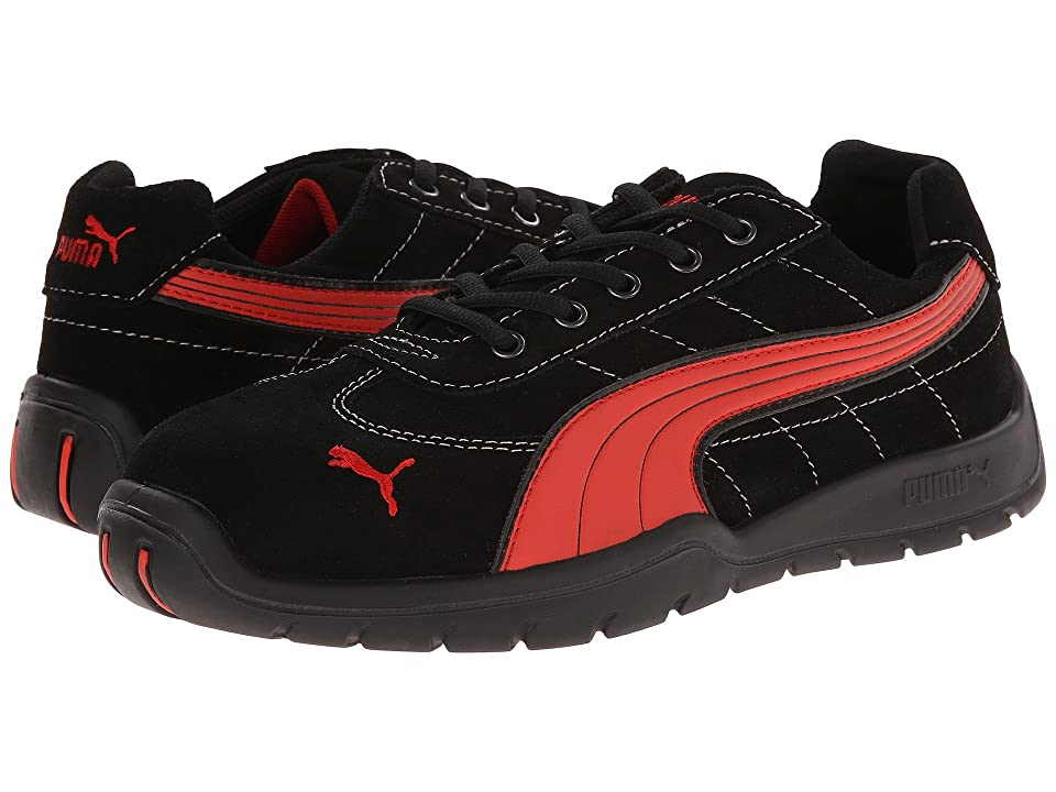 PUMA Safety Silverstone SD (Black/Red) Men
