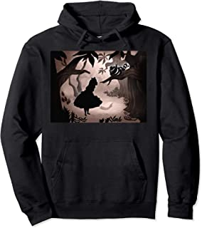 Alice In Wonderland Alice And Cheshire Cat Silhouette Pullover Hoodie