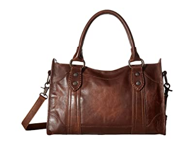 Frye Melissa Satchel (Dark Brown Antique Pull Up) Satchel Handbags