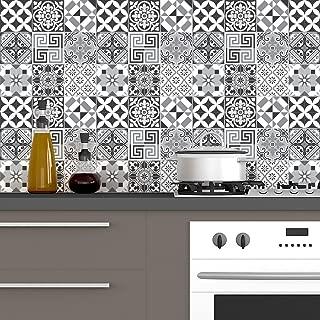 Ambiance-Live Cuadros de Cemento Adhesivos para Pared–Azulejos–20x 20cm–60Piezas