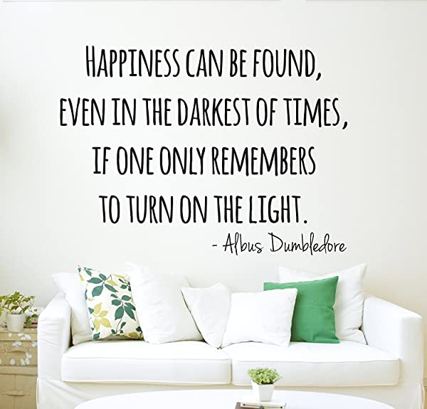 Harry Potter Wall Decal Dumbledore Quote Happiness Wall Decal Wall Decor Vinyl Wall Decal