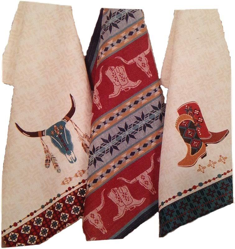 Kay Dee Southwestern Kitchen Towels Set Of 3