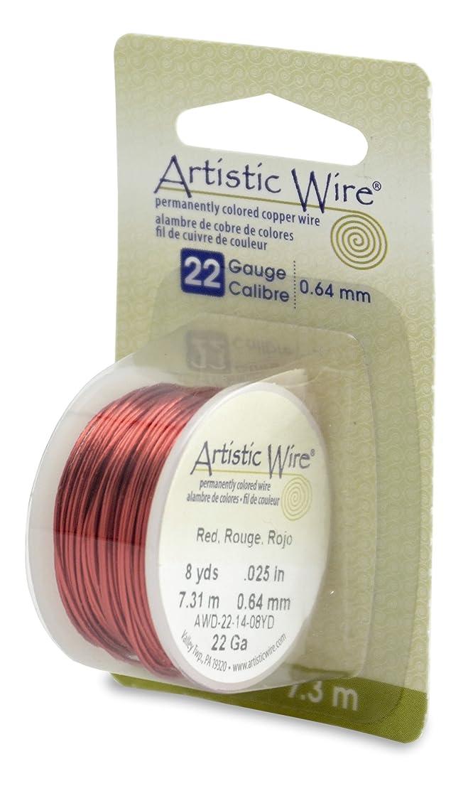 Beadalon Artistic Wire 22-Gauge Red Wire, 8-Yards