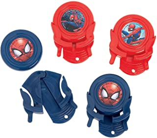 Fun Express - Ultimate SpideR-Man Disc Shooters for Birthday - Party Supplies - Licensed Tableware - Misc Licensed Tableware - Birthday - 12 Pieces