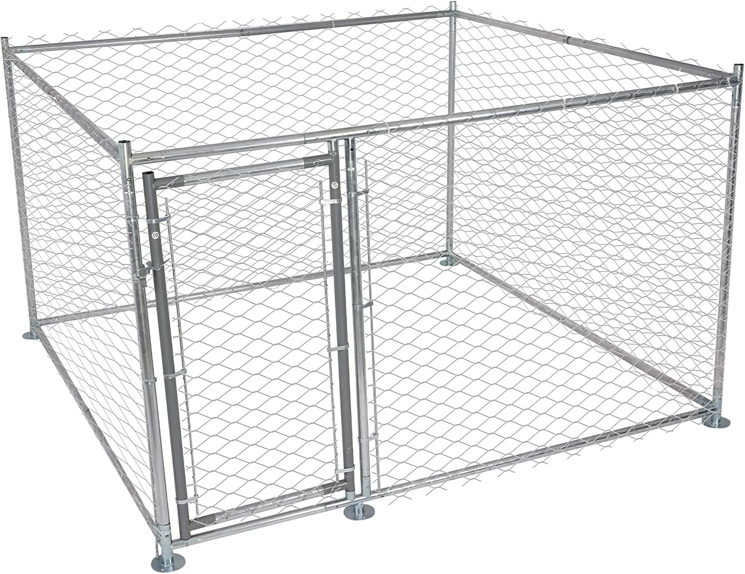 LUCKYERMORE Metal Dog Kennel Outdoor Clea Easy to Our shop most popular for Large New mail order