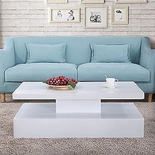 Amazon.com: Rectangular - White / Tables / Living Room Furniture ...