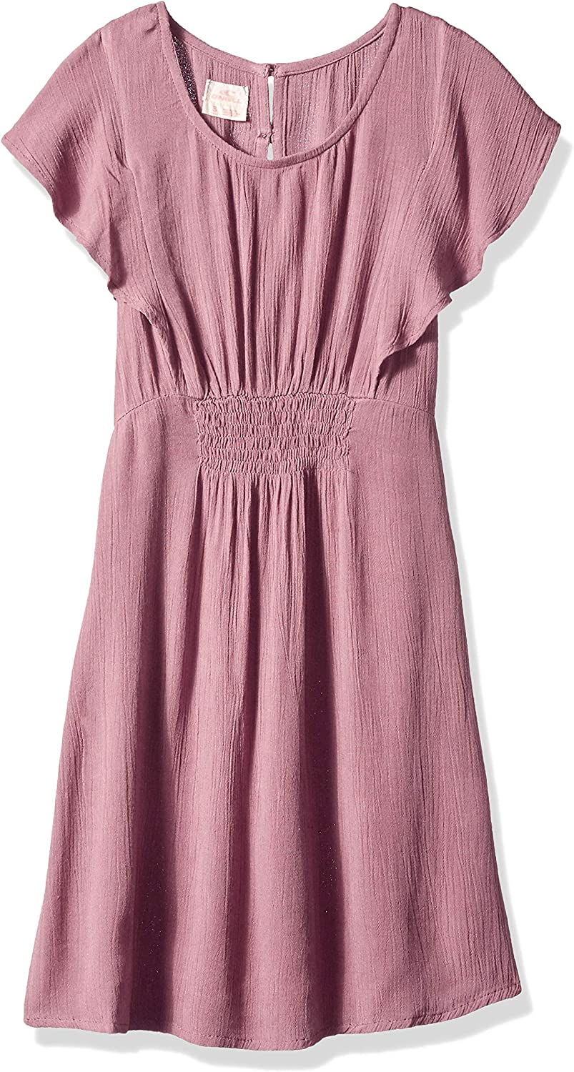 O'Neill Womens Chaser Woven Dress with Ruffle Sleeve Casual Dress