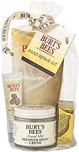Burt's Bees Hand Repair Gift Set, 3 Hand Creams plus Gloves – Almond Milk Hand Cream, Lemon Butter Cuticle Cream, Shea Butter Hand Repair Cream