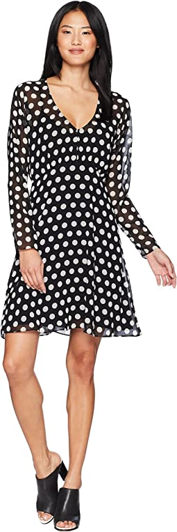 All Over Dot Flirty Dress