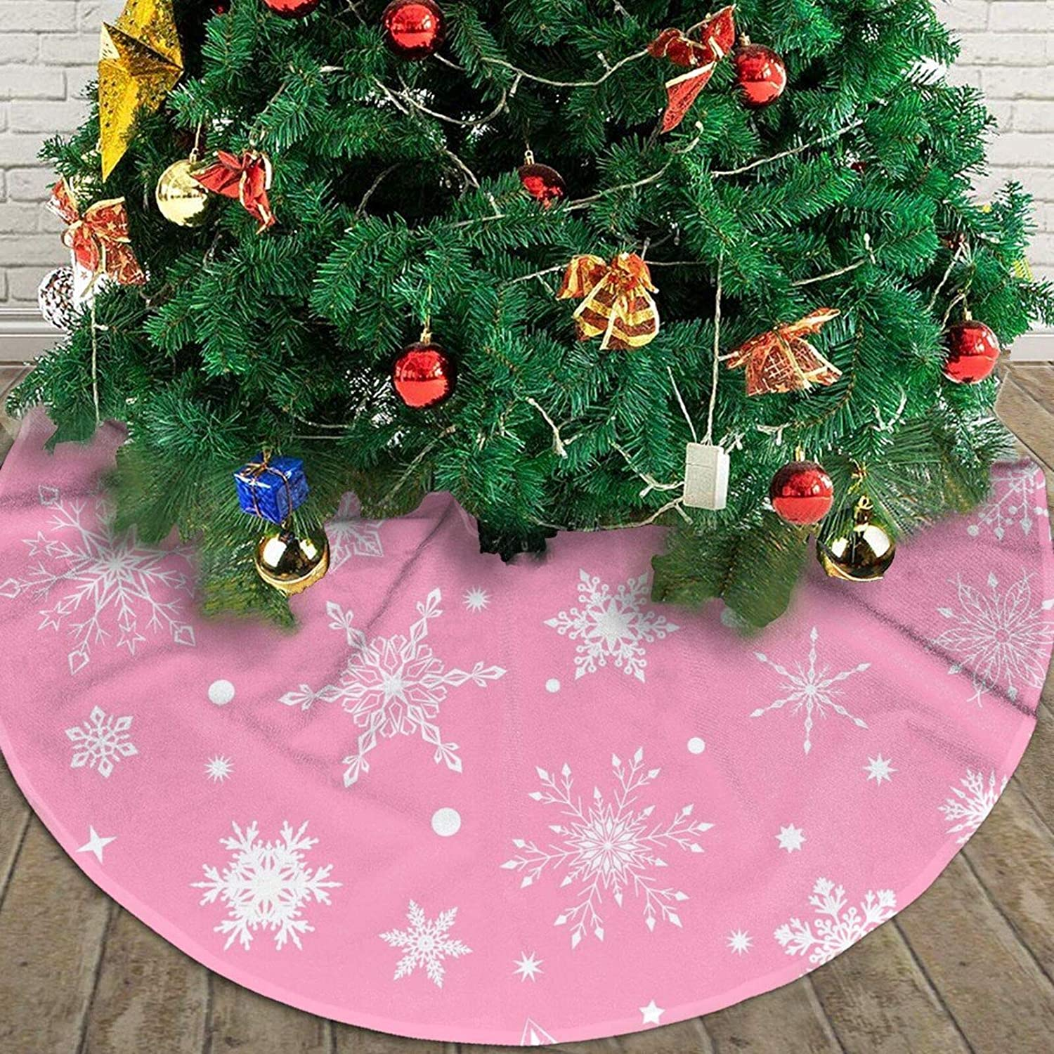 MINIOZE Patriotic Bald Eagle American Flag July 4th Themed 30 36 48 Inch Big Christmas Plush Tree Skirt Carpet Mat Rugs Cover Large Round Pad Classic Xmas Party Favors Ornament Decoration