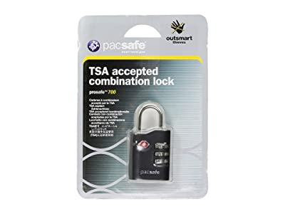 Pacsafe Prosafe 700 TSA Accepted Combination Padlock (Black) Wallet