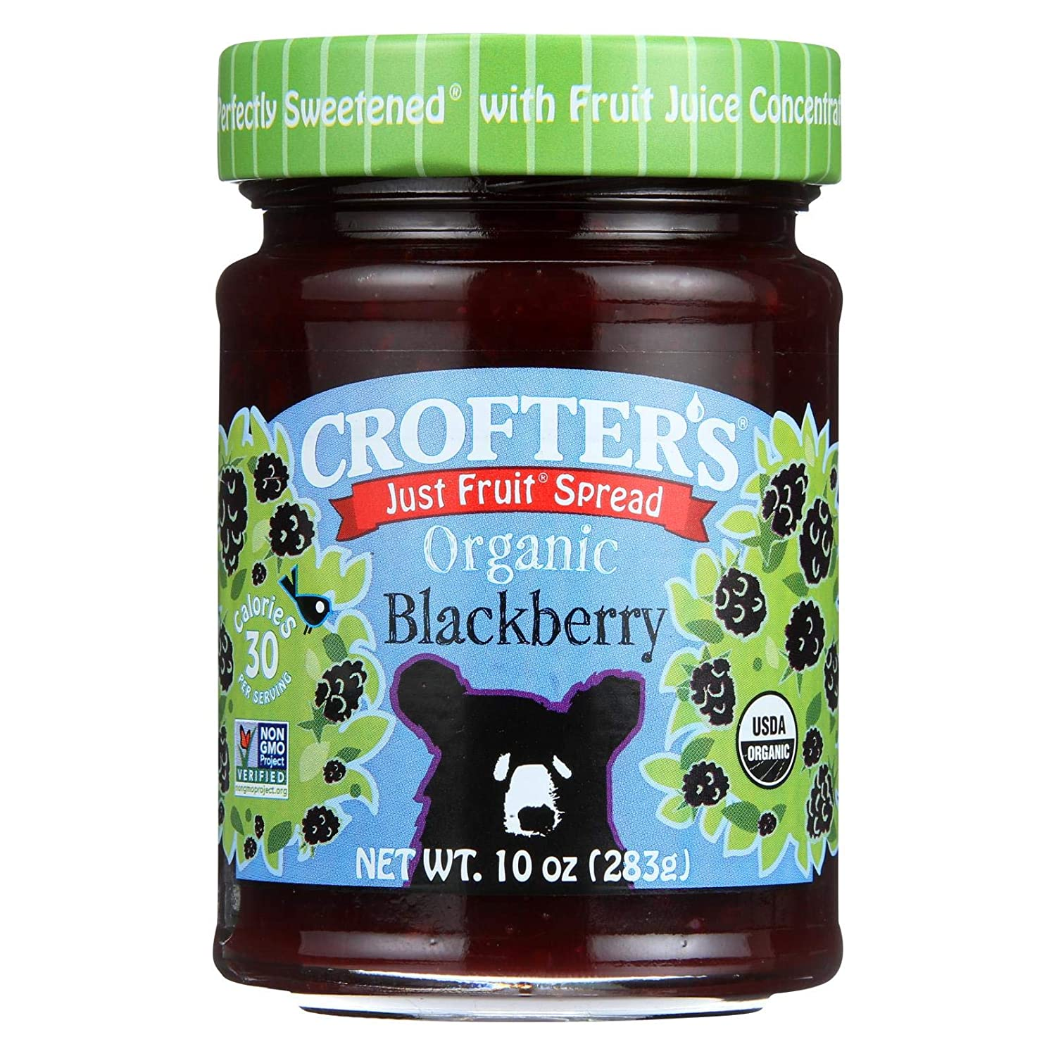 Crofters Organic Wild Popular brand in the world Blackberry Fruit Spread Max 59% OFF Ounce per 6 10 -