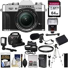 $1349 Get Fujifilm X-T30 Wi-Fi Digital Camera & 18-55mm XF Lens (Silver) + 64GB Card + Battery + Charger + Mic + LED Light + Tripod + Flash + Case + 2 Lens Kit
