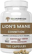 Sponsored Ad - Lions Mane Mushroom Cognition Capsules (120 Capsules) Lions Mane Mushroom Powder Extract Capsules   Brain S...