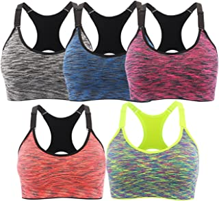 Sports Bra for Women Space Dye Removable Pads for Yoga...