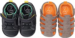 Ro + Me Casual Parker/Andrew Sandal 2-Pack (Infant/Toddler)