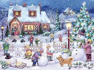 Vermont Christmas Company Snowman Celebration Jigsaw Puzzle 550 Piece