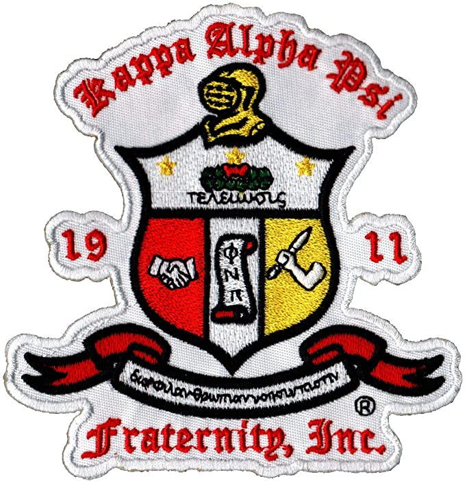 """Kappa Alpha Psi 11 1//2/"""" Year and Crest Swoosh Logo Patch NEW!!"""
