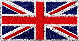 British Union Jack Embroidered Patch England Flag UK Great Britain Iron-On Emblem