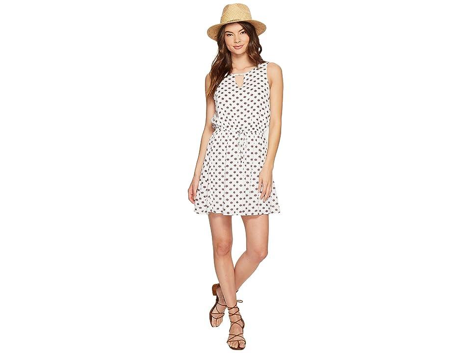 Jack by BB Dakota Magali Printed Crinkle Poly Dress (Bright White) Women