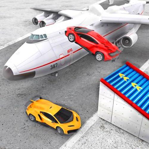 Sports Car Stunts Plane Transporter: Modern Supercar Adventure Game 3D