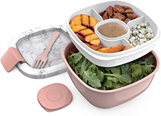 Bentgo Salad BPA-Free Lunch Container with Large 54-oz Bowl, 4-Compartment Bento-Style..
