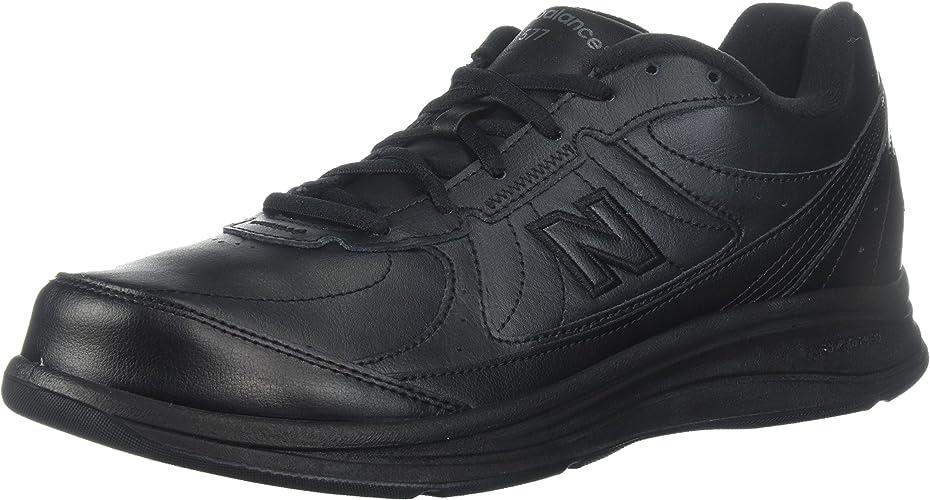 nouveau   - Pour des hommes 577 Cushioning en marchant chaussures, noir (BK), 42.5 B EU