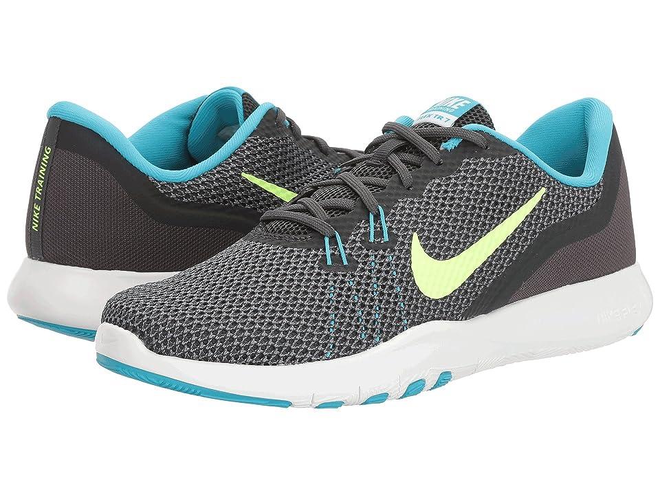 Nike Flex TR 7 (Anthracite/Ghost Green/Chlorine Blue) Women