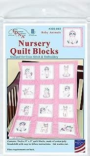 Jack Dempsey Needle Art 300883 Baby Animals Quilt Blocks, White