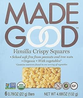 Made Good Crispy Squares, Vanilla, 4.68 Oz