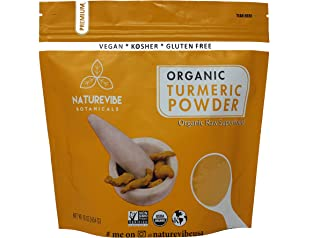 Premium Quality Organic Turmeric Root Powder with Curcumin (1lb), Gluten-Free, Non-GMO & Keto Friendly (16 ounces) | Indian Seasoning. [Packaging May Vary]