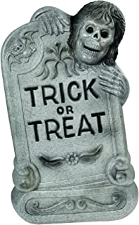 Lighted Blow Mold Tombstone, 33-Inch