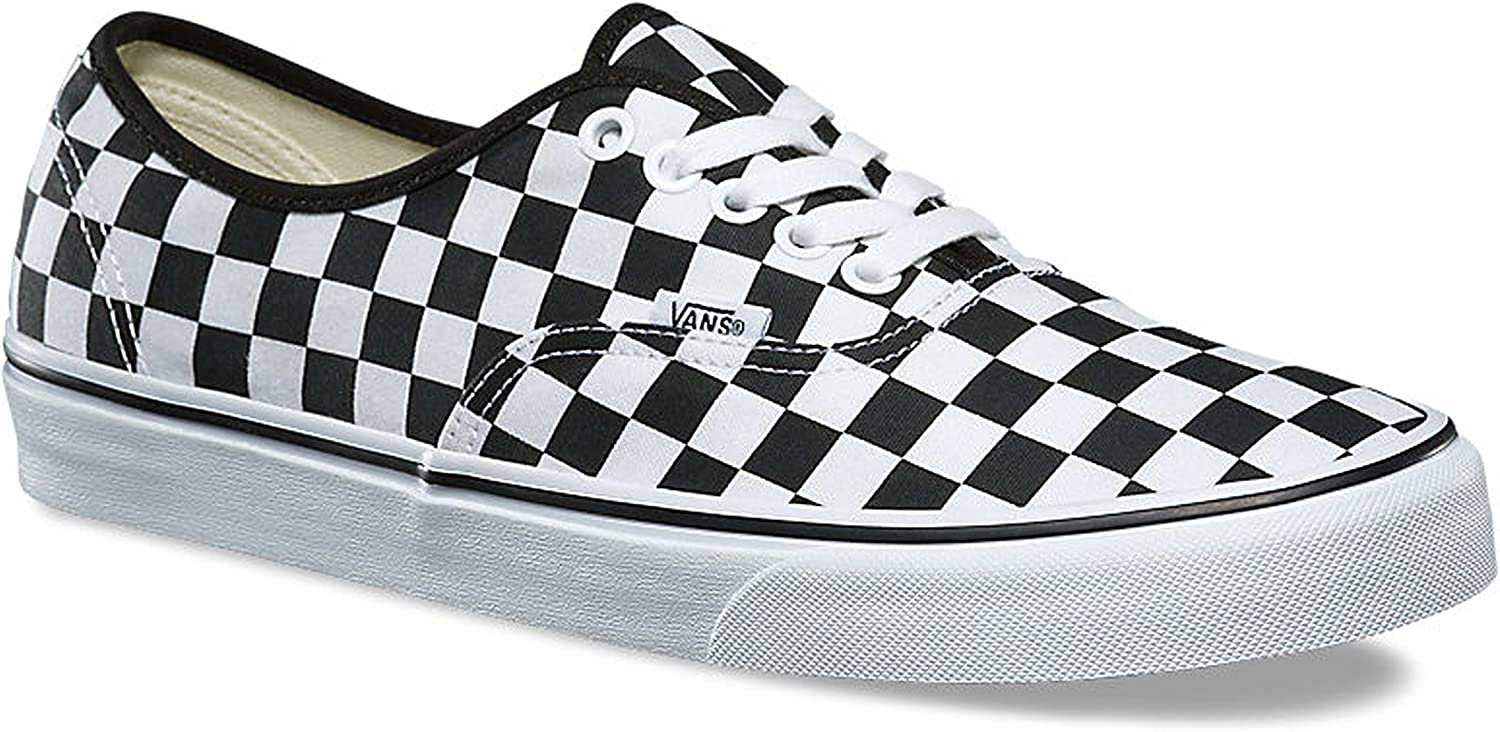 Vans Unisex Authentic Manufacturer direct delivery Trainers Canvas Checkerboard Jacksonville Mall