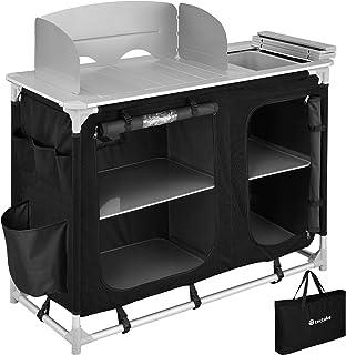TecTake 800747 Cocina de Camping, Aluminio, Plegable para