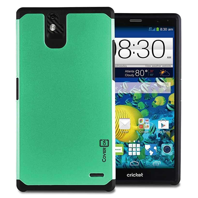 ZTE Grand X Max+ Case, CoverON Hybrid Case [Slim Guard Series] Heavy Duty Rugged Impact Armor Phone Cover for ZTE Grand X Max Plus Phone case - (Teal)