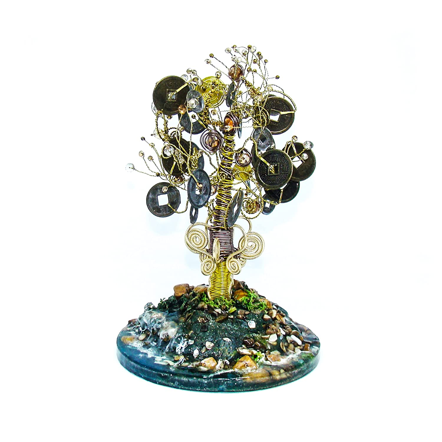 Treasure Tree with Coins and Copper Ranking TOP12 Figurine Beads Over item handling ☆ Wrapped Golde