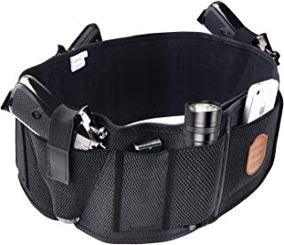 Fullmosa Concealed Carry Holster, Mi Belly Band Holster Handgun, Elastic Hand Gun Holder Waist Holsters Pistols Revolvers IWB Holster Mag Pouches
