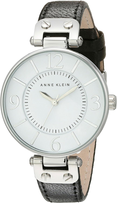 Anne Klein Womens Leather Strap Watch
