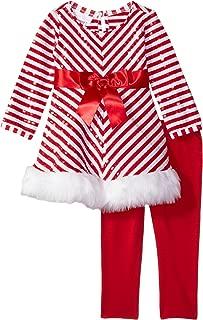 Bonnie Baby Baby Girls' Christmas Dress and Legging Set