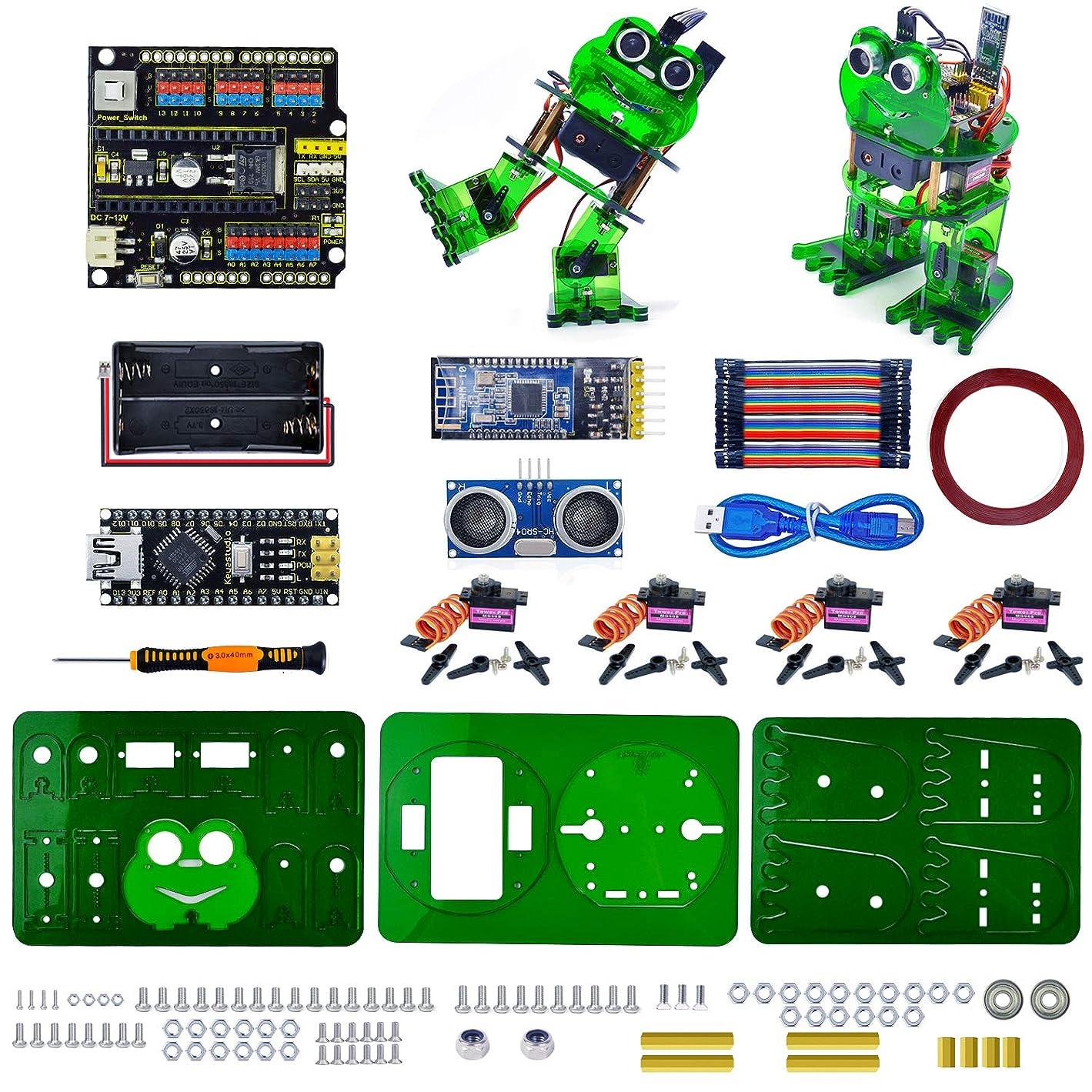しつけコート粘着性KEYESTUDIO プログラミング ロボット 組み立て スターターキットfor Arduinoと互換性 アルドゥイーノ アルディーノ キット ロボティクス セット 初心者 電子工作 STEM教育 科学実験 おもちゃ 子供と大人向け 知育玩具