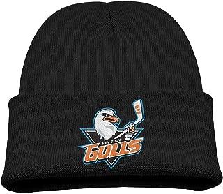 WHROOER Ducks Hockey San Diego Gulls Dallas Eakins Logo Cute Knit Cap Cool Woolen Beanie Hat Black Baby